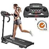 Life Laufband Elektrisches Klappbar Fitnessgerät Heimtrainer verstaubar kompakt mit LCD-Display Tablethalterung