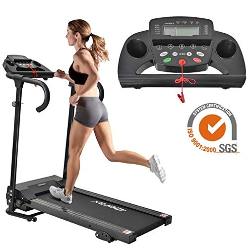 Life Laufband Elektrisches Klappbar Fitnessgerät Heimtrainer verstaubar kompakt mit LCD-Display Tablethalterung 12 Programs 1-10 km/h Running Training Exercise
