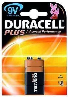 9V Blockbatterie DURACELL Plus 9V, Typ 6LR61