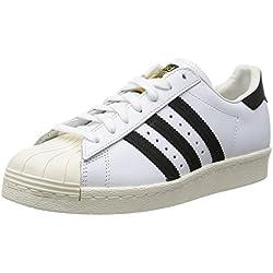 adidas Superstar 80S, Zapatillas para Hombre, Blanco (White/Black/Chalk 0), 44 EU