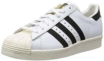 adidas Superstar 80s, Sneakers Basses Homme, Blanc (White/Black/Chalk), 40 EU