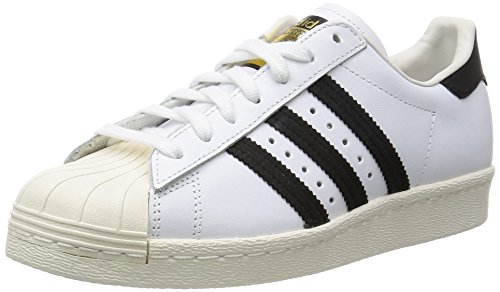 Adidas superstar 80s, sneaker a collo alto uomo, bianco (white/black/chalk), 44 eu