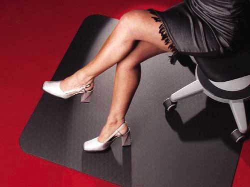 Floordirekt ECO Bodenschutzmatte - 120x150cm - für Teppich - schwarz