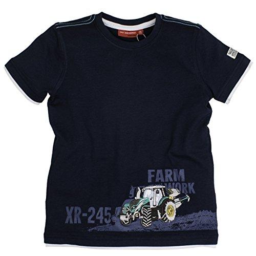 SALT AND PEPPER Jungen T-Shirt Tractor uni 2in1 73112148, Einfarbig, Gr. 92 (Herstellergröße: 92/98), Blau (crown 463)