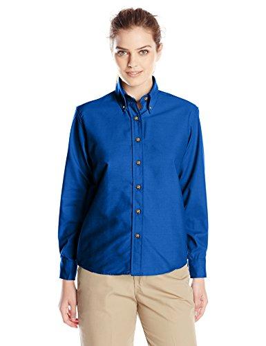 Blue Royal Shirt Dress Womens (Red Kap Women's Plus Size Poplin Dress Shirt, Royal Blue, 24)