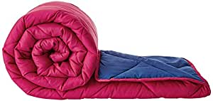 Amazon Brand - Solimo Microfibre Reversible Comforter, Single, Red and Blue