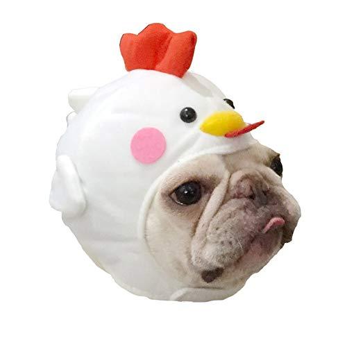 JNTM Halloween-Haustier-Hut, Kostüm-Hundekatzen-Nette Neuheit-Küken-Hut-Kopfbedeckung Lustige Huhn-Henne-Kostüm-Hut-Haustier-Weiche Kopfbedeckung Halloween-Nette Kappen-Kostüm-Partei - Allgemeine Hut Kostüm