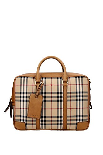 Burberry Aktentasche Tasche Dokumententasche Laptoptasche Leder horseferry check