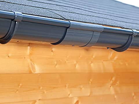 Plastic guttering kit for shed roof (1 roofside)   Extra100   in 4 colours! Ideal for shed or summer house! (Extension kit 175 cm,