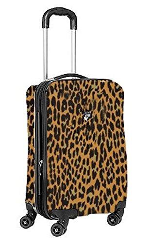 ... 50% SALE ... PREMIUM DESIGNER Hartschalen Koffer - Heys Novus Art Taupe - Handgepäck Leopard