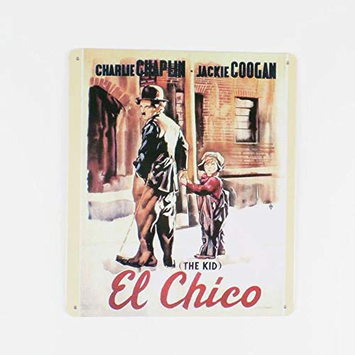MinegRong 2 stücke 18 * 21 cm Charlie Chaplin Film Blechschilder Humorvolle Vintage Tin Poster Platte Dekor Wohnkultur Zeichen, 1 - Charlie Chaplin-film Poster