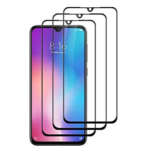 Flysee Protector de Pantalla Xiaomi Mi 9 SE Cristal Templado Xiaomi Mi 9 SE, Cobertura Completa, Sin Burbujas, 9H Dureza, Anti-Rasguños, Alta Definicion [3 Piezas]