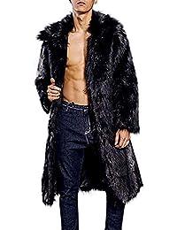 Cappotto Uomo Lungo Pelle Sintetica Primavera Beikoard(Asia Size) Moda Uomo  Caldo Cappotto Pesante fbc7d0e9f0d0