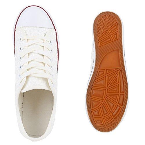 Herren Sneakers   Freizeitschuhe Sportschuhe   Schnürer Stoffschuhe  Fitness Streetstyle   viele Farben Weiss Blanc