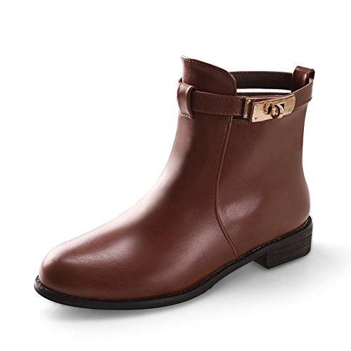 fashion Martin bottes en automne et en hiver/Bottes ceinture boucle square root/Confortables chaussures basses/Boots B