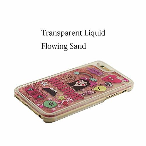 iPhone 6S Plus Housse étui de Protection Liquide Eau Style Clair Transparent Dur PC 'Sable Écoulement' Conception Original Motif Rigide Case Coque pour Apple iPhone 6 Plus 5.5