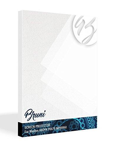 Bruni Schutzfolie kompatibel mit Medion AKOYA P6670 MD99960 Folie, glasklare Bildschirmschutzfolie (2X)