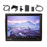 Feelworld FW760 On-Camera LCD Monitor 7'' Full HD 4K HDMI for Canon Nikon Panasonic DSLR Mirrorless Cameras, F550 Battery Kit Included