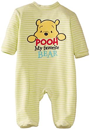 Disney Baby Boys Winnie The Pooh EN0314 Striped Long Sleeve Sleepsuit, Yellow Stripes, 18-24 Months (Manufacturer Size:18 Months)