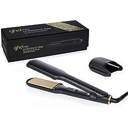 """GHD Gold Max - Plancha de pelo profesional con tecnología cerámica y placas anchas de 2"""" (50.8 mm)"""