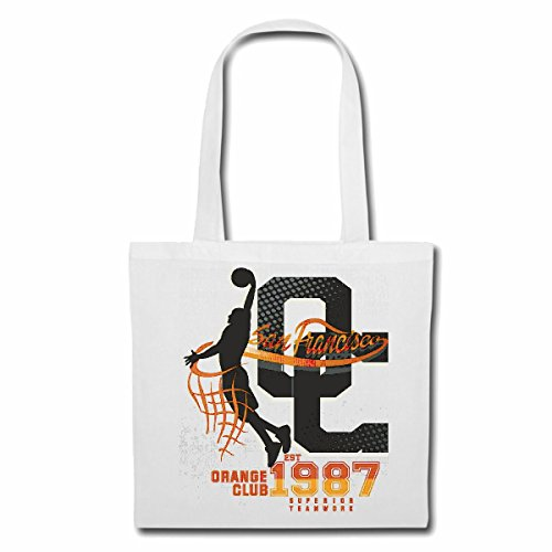 Tasche Umhängetasche SAN Francisco ORANGE Club Superior Teamwork USA Amerika LOS Angeles California Brooklyn New York City Manhattan Rugby Baseball Football FUßBALL Einkaufstasche Schulbeutel Turnb