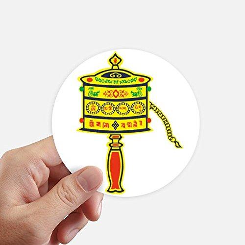 DIYthinker Buddhismus Religion Gebet-Rad Sanskrit Aufkleber 10Cm Wand Koffer Laptop Motobike Aufkleber 8Pcs Diameter 10Cm Mehrfarbig