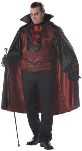 Graf Blutdurst Übergröße Kostüm Dracula Vampir Herren Verkleidung Größe - Übergröße Herren Kostüm