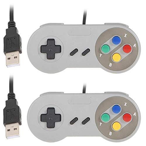 2x USB SNES Gamepad/Controller für PC Windows 10 Mac Raspberry Pi C64 Mini Retropie Recalbox Gamepad NES/SNES Emulator (Mini-pc-controller)