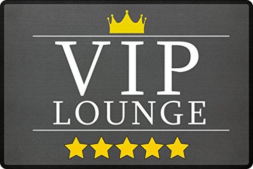 Preisvergleich Produktbild VIP Lounge Fußmatte In Grau - Schmutzfangmatte Für Dein Zuhause Aus Polypropylen Mit Rutschfester Unterseite - HOCHWERTIGE QUALITÄT - Maschinenwaschbar - Die Perfekte Türmatte Mit Coolem Style - Perfekte Geschenk Idee