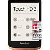 PocketBook e-book-reader 'Touch HD 3' (16 GB geheugen; 15,24 cm (6 inch) E-Ink Carta-display; SMARTlight; Wi-Fi; Bluetooth) in koper