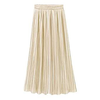 Lavany Women'S Pleated Skirt Vintage High Waist Full Length Maxi Skirt For Girl