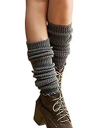 TININNA - Calcetines térmicos de punto para mujer, mezcla de lana cálida para invierno Deep Grey