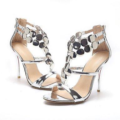 LvYuan Sandali-Matrimonio Formale Serata e festa-Innovativo Club Shoes-A stiletto-Vernice-Rosso Argento Dorato Gold