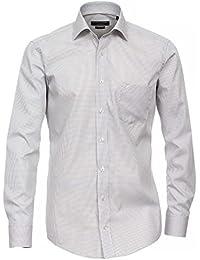 CASAMODA Modern Fit Hemd Langarm Karo grau/weiß 006760/700