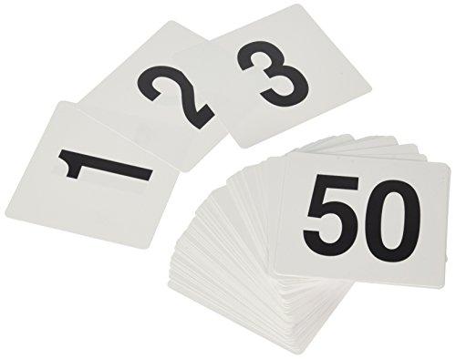 New Star 231761bis 50-double Seite Kunststoff Tisch Zahlen, 4von 4-Zoll, schwarz auf weiß