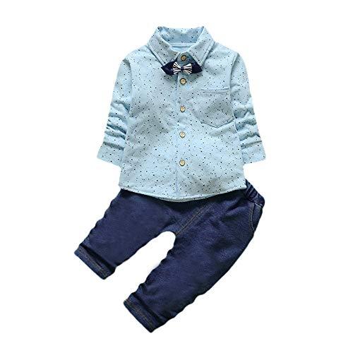 (Babykleidung Satz, LANSKIRT Infant Kleinkind Baby Jungen Grid Print Tops + Hosen Outfits Kleidung Set 2Pcs S-XL)