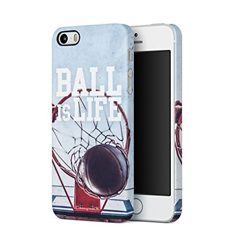 Basketball Ball Is Life Apple iPhone 5 / iPhone 5S / iPhone SE SnapOn Hard Plastic Phone Protective Fall Handyhülle Case Cover Iphone 5 Fall-hockey