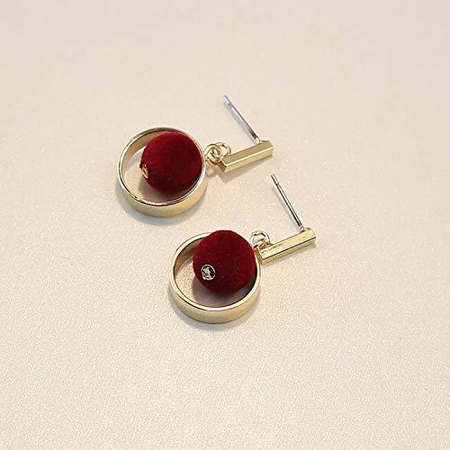 SGDBBR Ohrringe mit Liebeskugeln, handgewebt, für Studenten aus Nickel, Wilde Ohrringe für Frauen (17)
