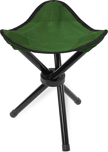1,2,5 oder 10 Mini Anglerstühle Anglerstuhl Faltstuhl Falthocker Dreibeinhocker - super Klapphocker für den Rucksack Farbe Oliv Größe 1 Stück