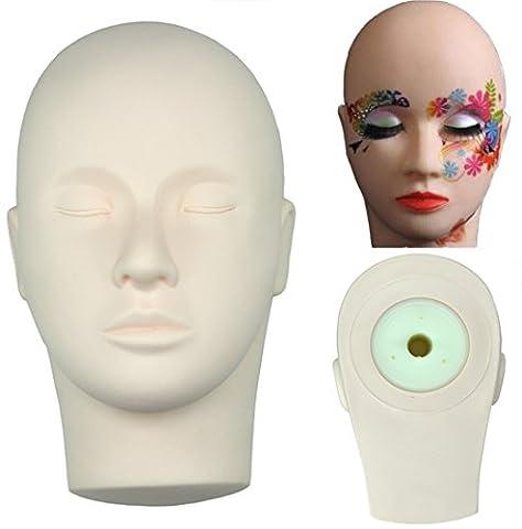 Training Mannequin Make Up Practice Flat Head