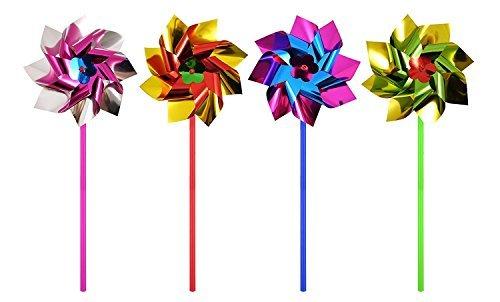 10 X Feuille Moulins À Vent - Multicolore