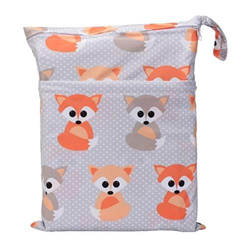 Wet Dry Bag mit zwei Reißverschluss Baby Wickeltasche Wasserdichte Wickeltasche WH14 Baby Fuchs