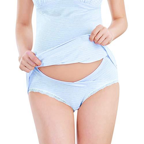 Yvelands Damen Schwangerschafts Unterwäsche, Portal Women Under The Bump Maternity Panties (Blau,CN-XL)