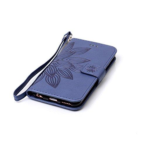 Nouveau style pressé en relief fleurs Windchime motif rétro Folio Flip Stand Wallet Case avec une dragonne pour Apple IPhone 6S Plus ( Color : 5 , Size : IPhone 6S Plus ) 14