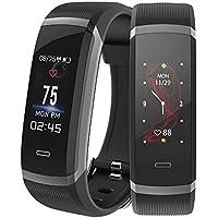 Makibes Fitness tracker, Smart Bracelet IP67résistant à l'eau Fitness Smartwatch moniteur de fréquence cardiaque, Bluetooth podomètre, suivi du sommeil, Sédentaires rappel SMS SnS Push
