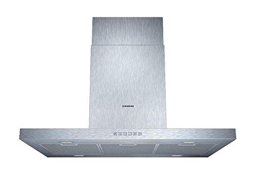 Siemens LF97BB532 iQ300 Inselhaube / 90 cm / Wahlweise Abluft- oder Umluftbetrieb / Metall-Fettfilter, spülmaschinengeeignet / edelstahl