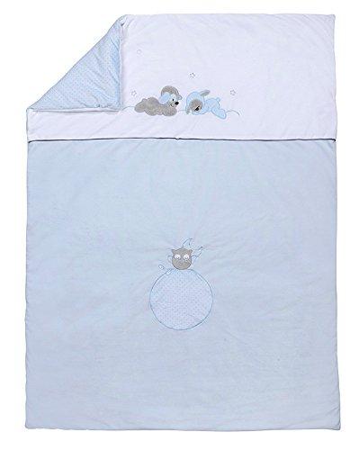 Nattou Couverture Bébé, Garçon, 135 x 100 cm, bleu - Sam et Toby