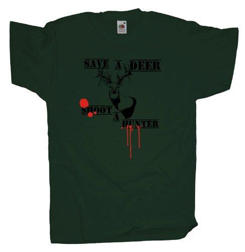 Ma2ca - Save a Deer - T-Shirt Bottle Green