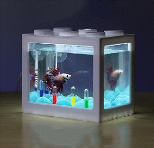 Ruyi&JixiangKlein Eimer Fische Gebäude Fische Tank LED Lichter Zucht