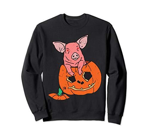 Halloween Creepy Pig Piglets Kürbis Jack O Laterne Sweatshirt